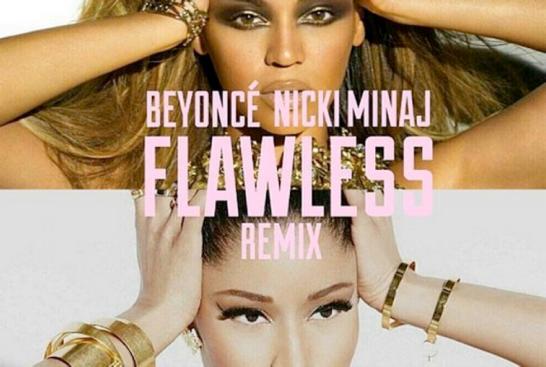 Beyoncé and Nicki Minaj with the 'Flawless Remix'