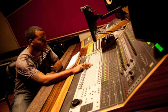 Kenneth Townsend hard at work in the studio. Photo submitted by Deidra Shores.