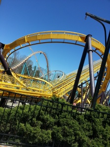 Students were also able to have some downtime and enjoy rollercoasters. Photo by Jasmine Williamson.
