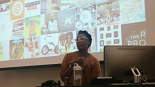 Brittney Bullock, Community Engagement Manager for Crosstown Arts, speaks to Teen Appeal. Photo by Roddrick Tooles.