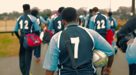 "A rugby squad on their way to a game. Photo from ""Power of Rugby"" documentary on Memphis Inner City Rugby."