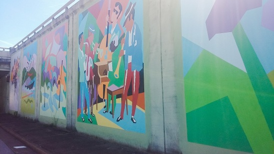 Photos of James Road murals by Roddrick Tooles.