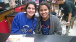 Apurva Kanneganti (right) and friend Linda Razany at Germantown High School. Photo by Hira Qureshi.